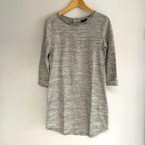 GAP 3/4 Sleeve Marbled Grey Dress - Size S